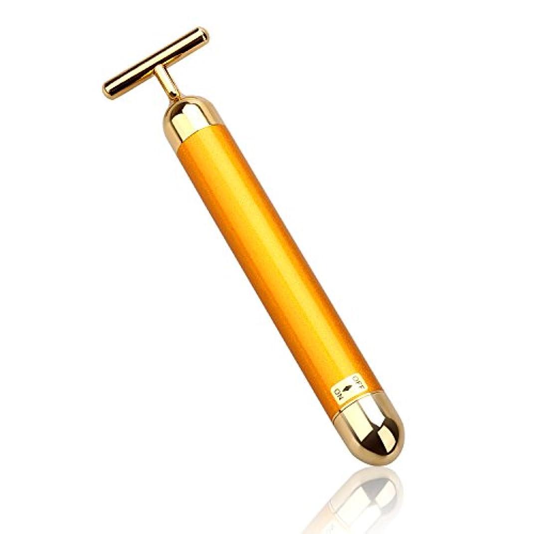 光景ほこり袋LEVIN 電動美顔器 ビューティーバー フェイスパー 電動美顔器 美肌 防水 ゴールド