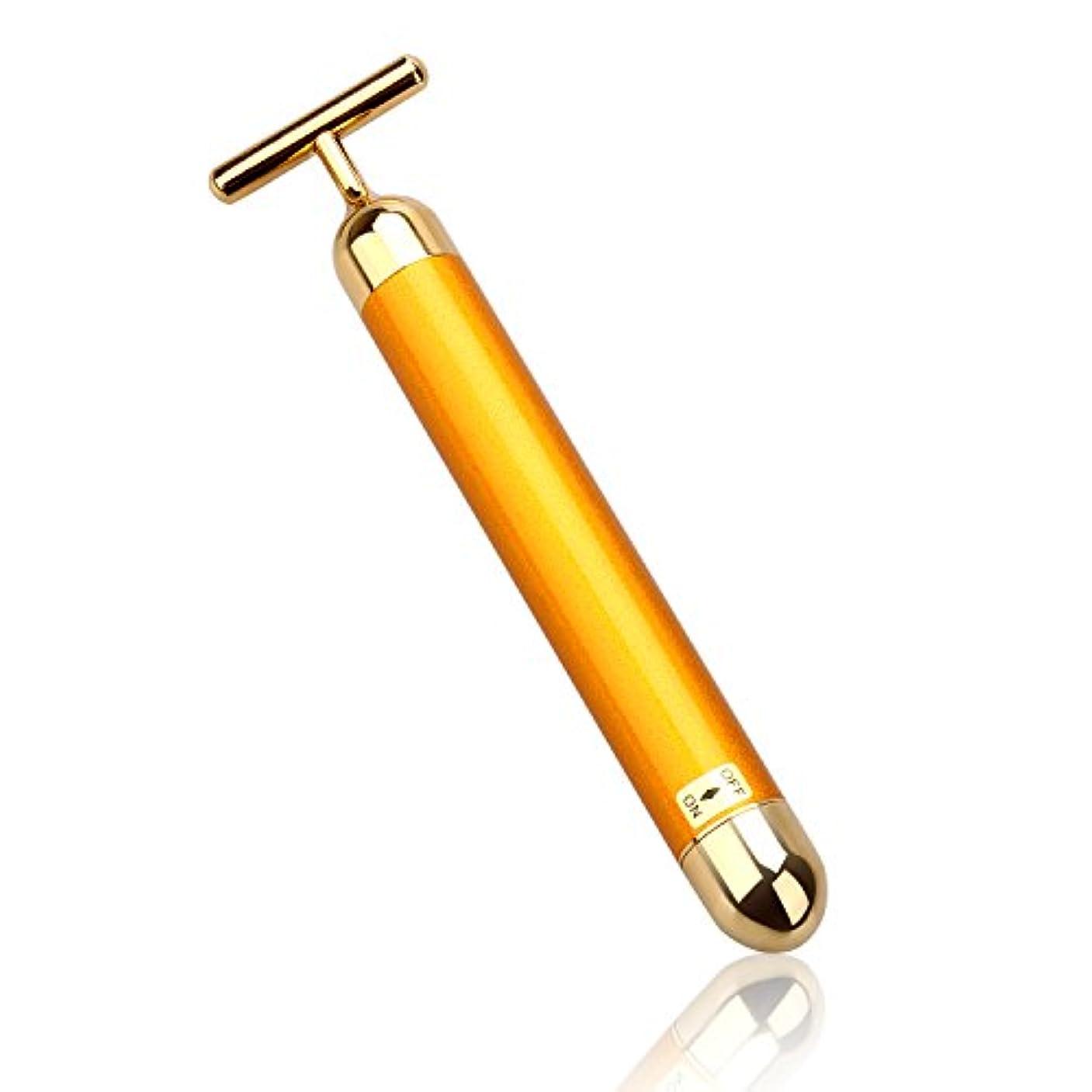 想像する愛撫ゲームLEVIN 電動美顔器 ビューティーバー フェイスパー 電動美顔器 美肌 防水 ゴールド