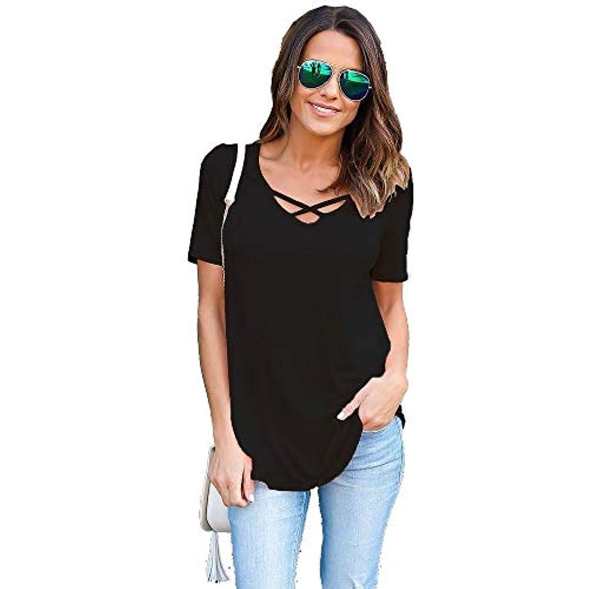 自分火受け入れたMIFAN女性のファッション、シャツ、Tシャツ、Vネック、半袖、無地、コットン、ルーズシャツ、カジュアルシャツ、女性用トップ
