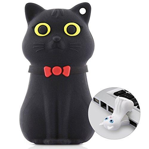 [BONE collection]かわいいUSBメモリー 16GB 「CAT」 おしゃれでおもしろいUSBメモリー ギフト、プレゼントに♪【日本正規総代理店】(Black)