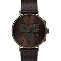 Timex Fairfield Supernova Gold Dial Leather Strap Men's Watch TW2R80100