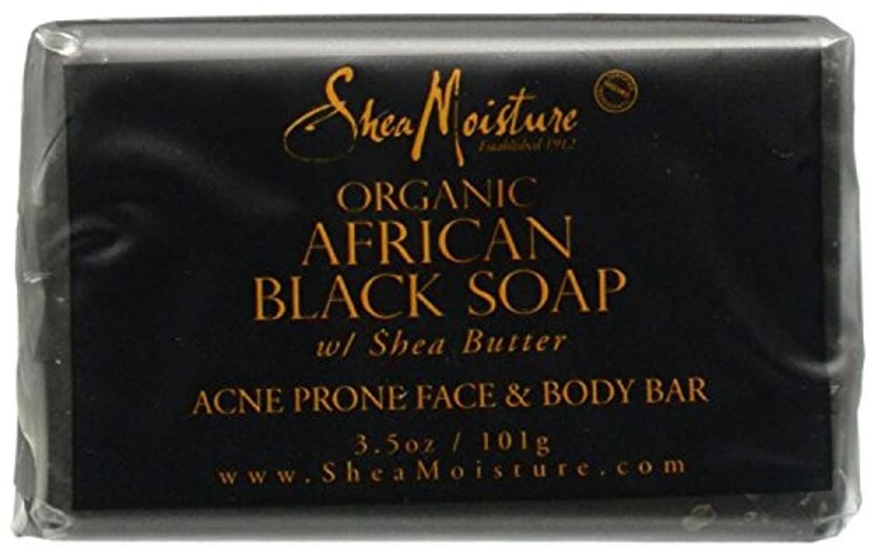 刺激するレンド南極Shea Moisture バーソープ (Organic African Black Soap Acne Prone Face & Body)