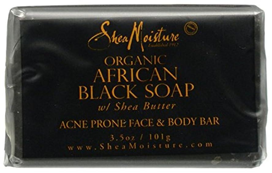 Shea Moisture バーソープ (Organic African Black Soap Acne Prone Face & Body)