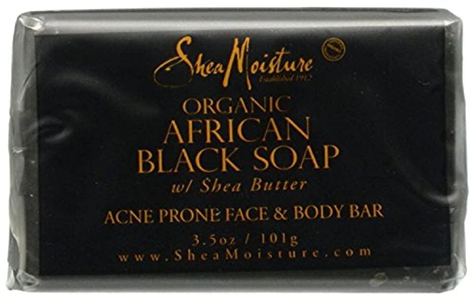 広々最後に行うShea Moisture バーソープ (Organic African Black Soap Acne Prone Face & Body)