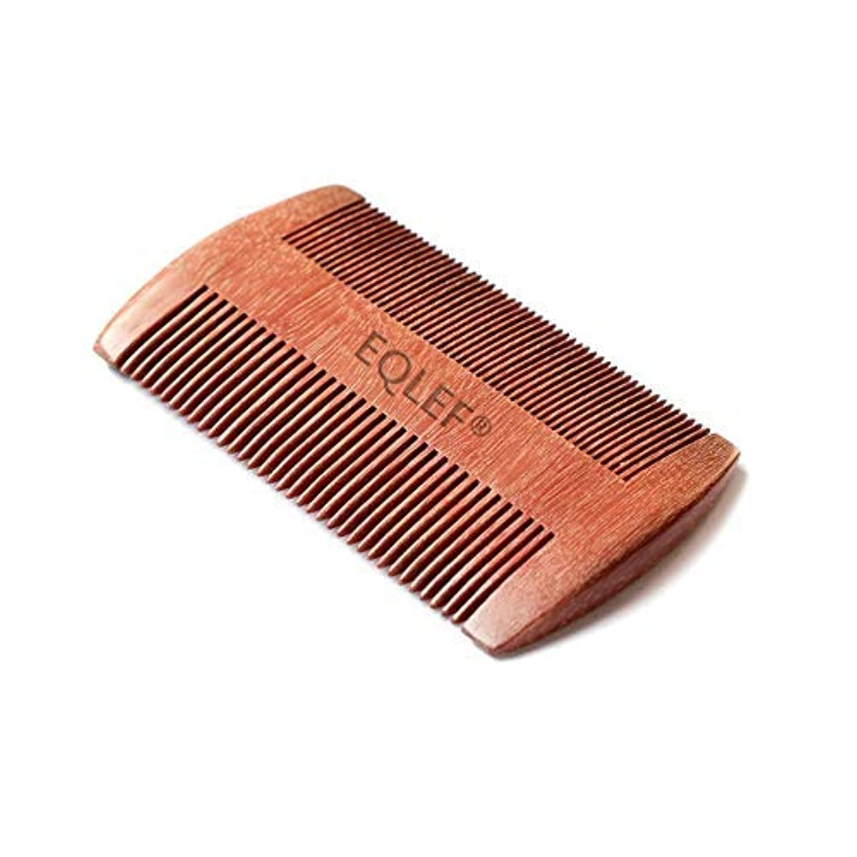 大佐もつれくつろぐEQLEF? Red sandalwood no static handmade comb, Pocket comb (beard) [並行輸入品]