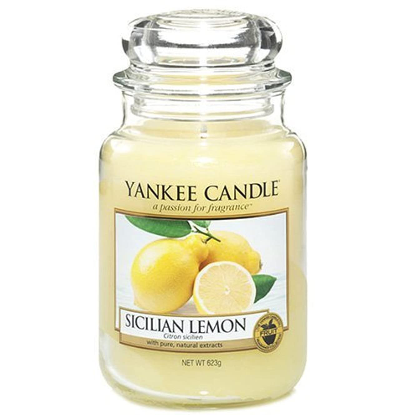 ベギン終了する設置Yankee Candle Large Jar Candle, Sicilian Lemon by Yankee [並行輸入品]