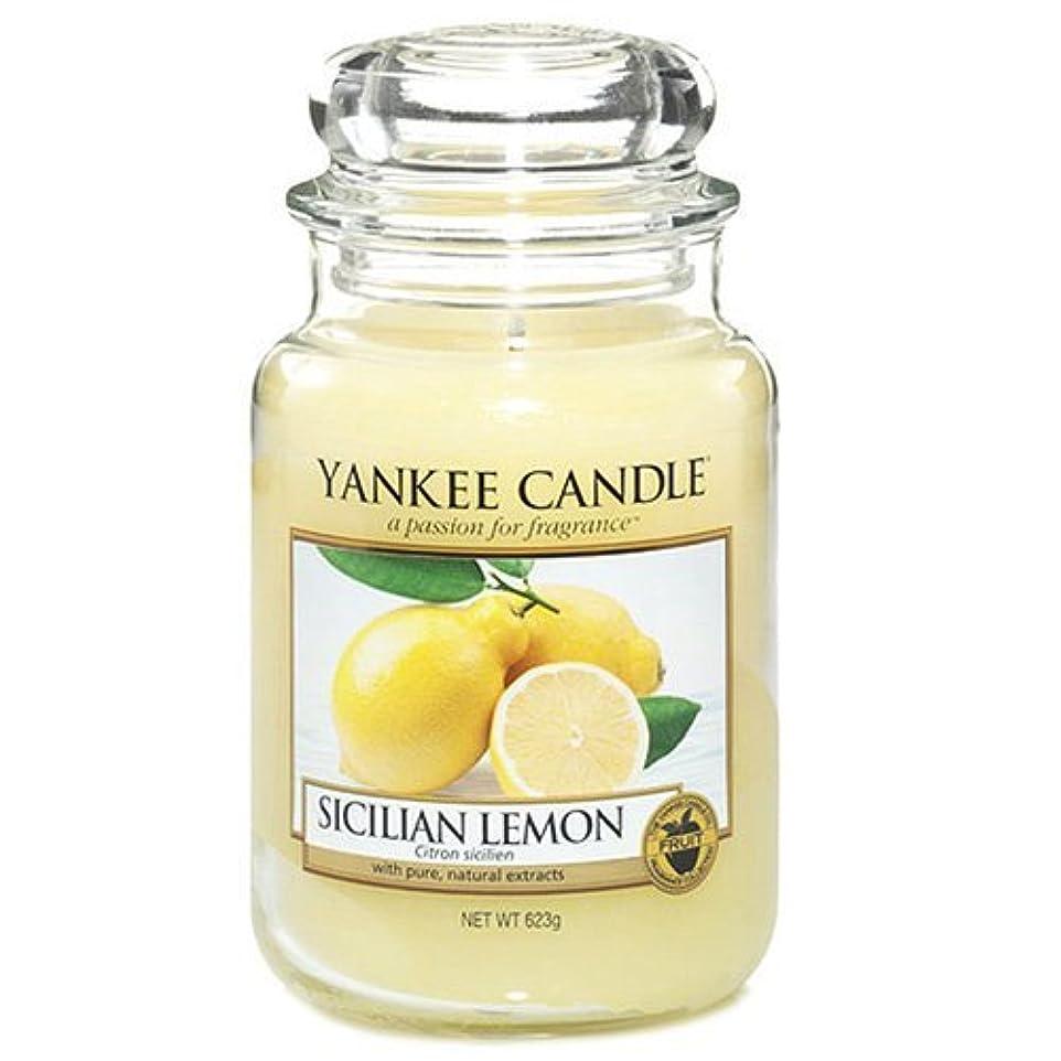 Yankee Candle Large Jar Candle, Sicilian Lemon by Yankee [並行輸入品]
