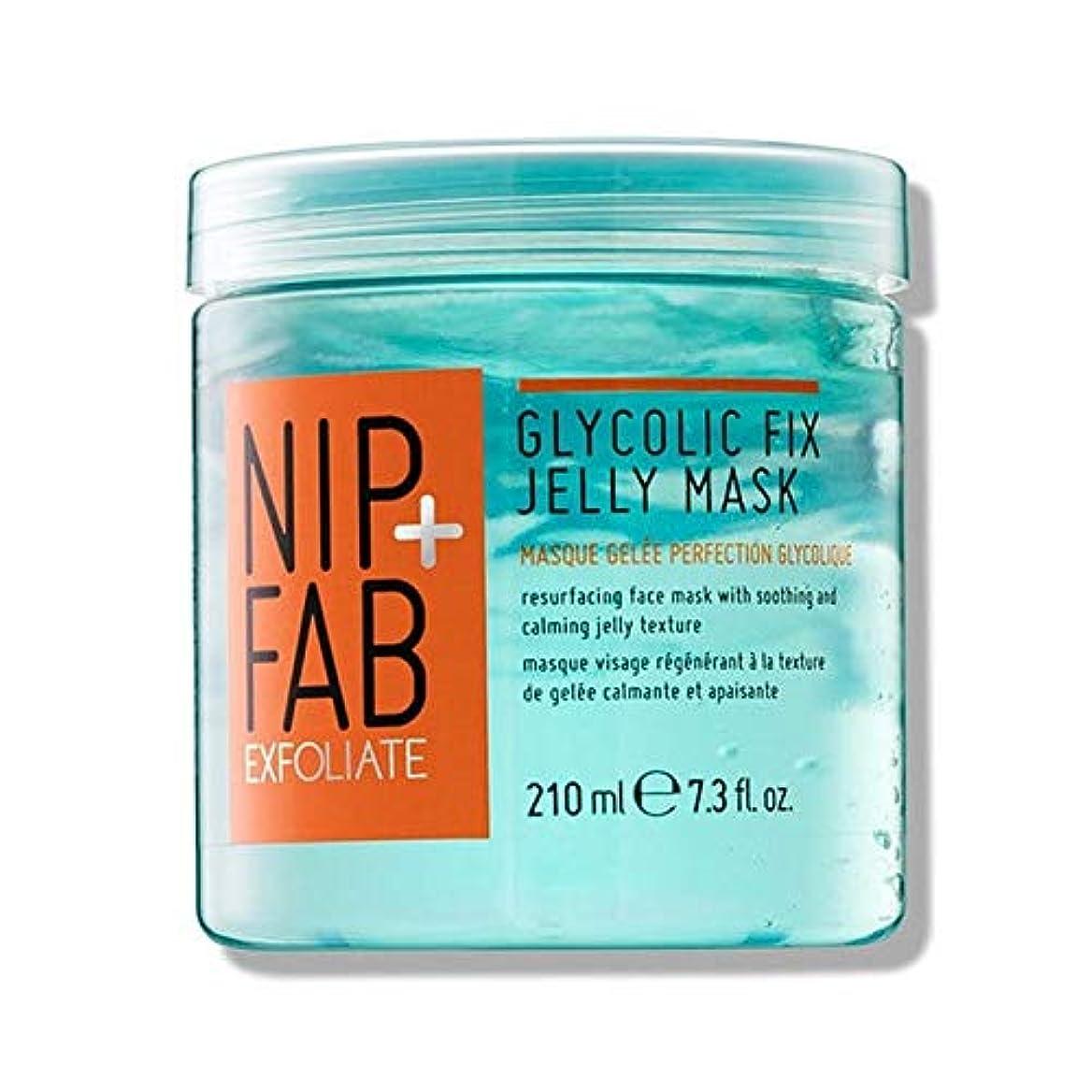 協定ギャザーよろめく[Nip & Fab] + Fabグリコール修正ゼリーマスク210ミリリットルニップ - NIP+FAB Glycolic Fix Jelly mask 210ml [並行輸入品]