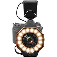 SHOOT LEDリングライト 32球一眼レフ用マクロリングフラッシュ 8交換リング付きストロボ for Canon Nikon Sony Olympus Pentax