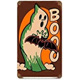 Vincenicy Metal Sign Great Aluminum Tin Sign Vintage Halloween Pumpkin Jack O Lantern Man Cave. 8 X 12 Inch