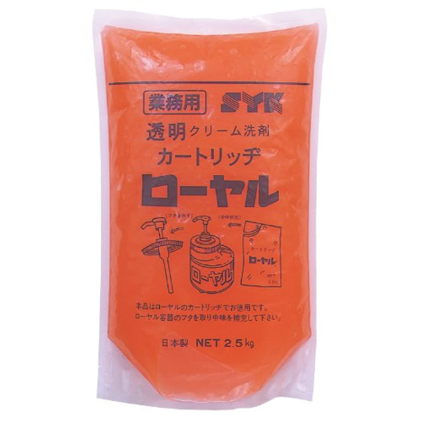 リーチ一晩信頼できる鈴木油脂 水無しでも使える業務用ハンドソープ ローヤル 2.5kg×6個