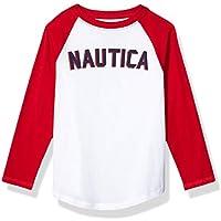 Nautica Boys Long Sleeve Baseball Logo Tee Long Sleeve T-Shirt