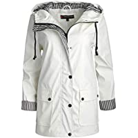 Urban Republic Women's Lightweight Hooded Raincoat Jacket