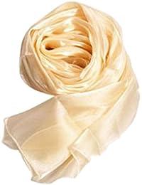 【ノーブランド品】 女性 長い ソフトラップ ショール シルク 絹 シフォン スカーフ ギフト ソフト 全4色