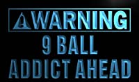 LED看板 ネオンプレート サイン 電飾・店舗看板・標識・サイン カフェ バー ADV PRO m859-b Warning 9 Ball Addict Ahead Neon Light Sign