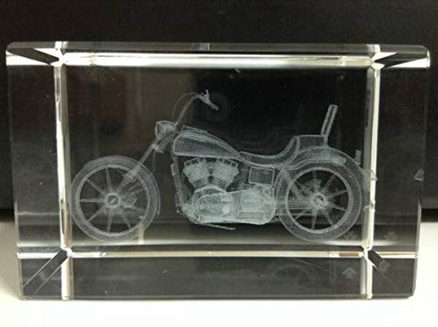 マーベル矢不利益Harley-Davidson ハーレーダビッドソンFX 3Dクリスタル ガラス ペーパーウェイト オブジェ 置物 文鎮 アメリカン バイク