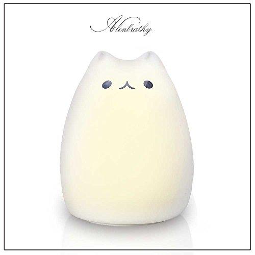 LEDナイトライト ベッドランプ デスクライト シリカゲル猫 多色変更 雰囲気作り 萌えニャンコ U...