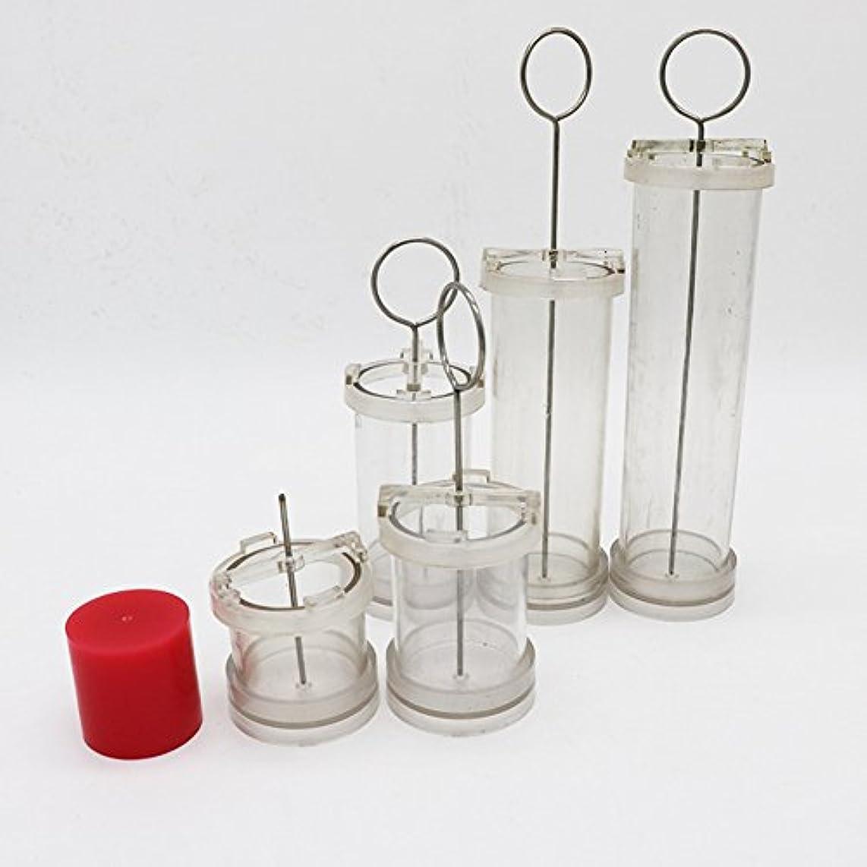 空気凝視ガチョウACHICOO キャンドル DIY ハンドメイド シリンダー形状 ワックス金型 香り PCチューブを作る 特別なワックス成形 フラットヘッド径Φ5*高10cm