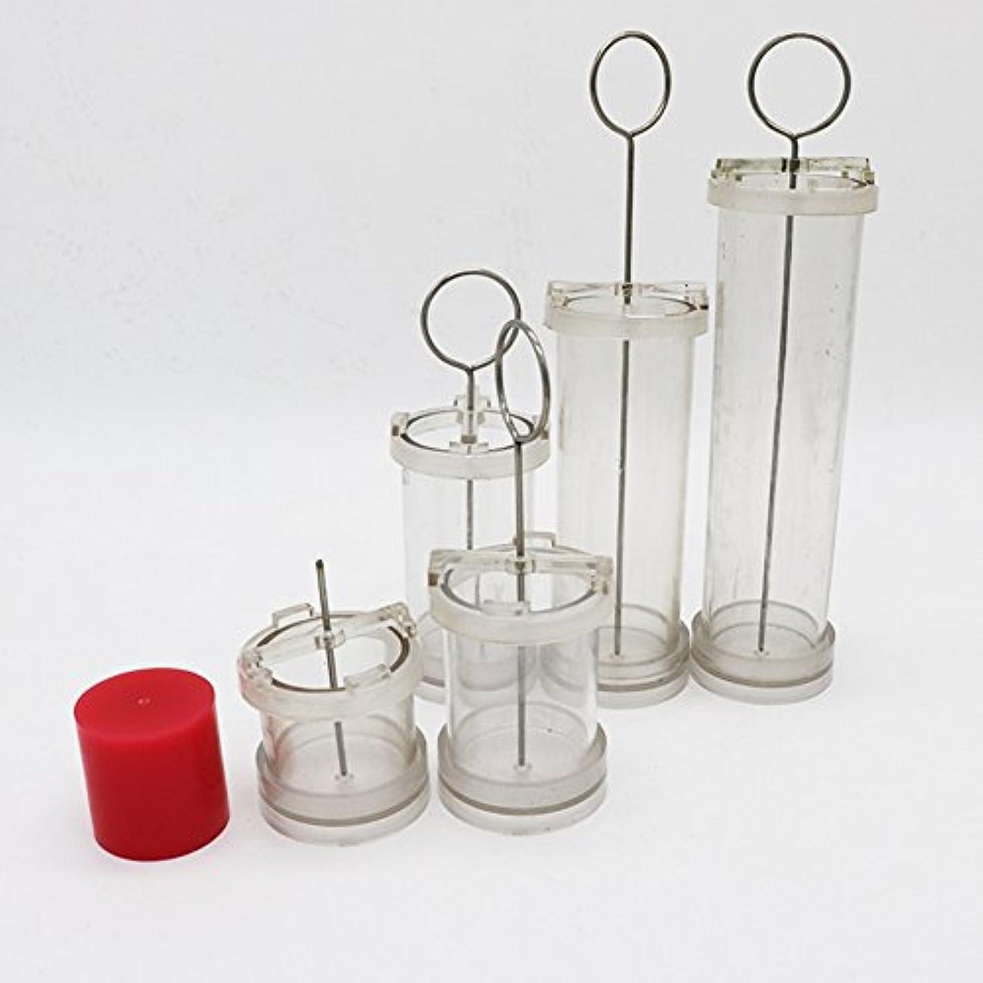 先悪の申し立てACHICOO キャンドル DIY ハンドメイド シリンダー形状 ワックス金型 香り PCチューブを作る 特別なワックス成形 フラットヘッド径Φ5*高10cm
