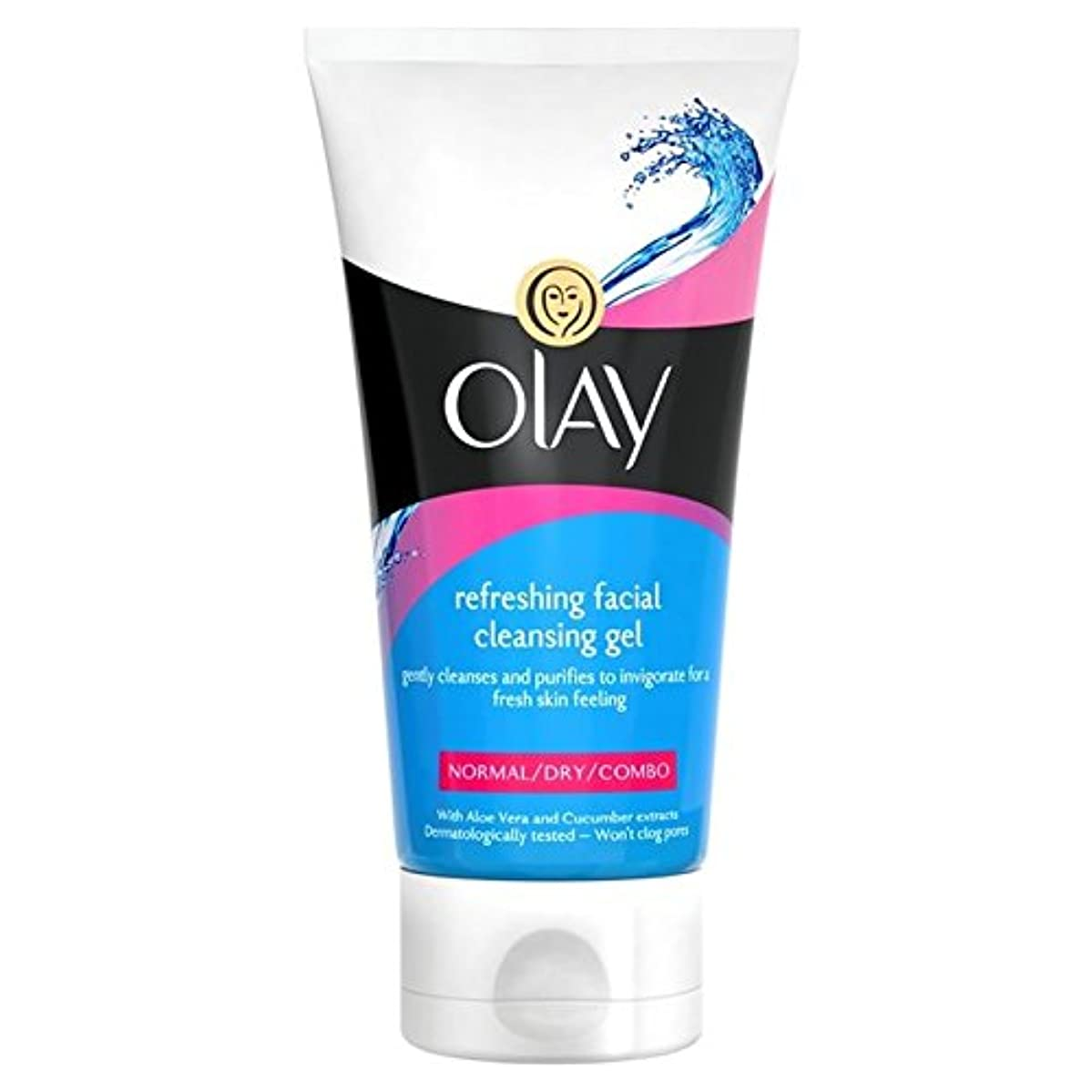 センチメートルパッチ先にOlay Essentials Cleansers Refreshing Face Wash 150ml - 洗顔料の150ミリリットルをリフレッシュオーレイの必需品クレンザー [並行輸入品]