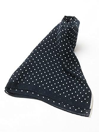 (アルテア) Altea シルク混 ドット柄 スカーフ 【AL1362019】 ネイビー [並行輸入品]