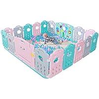 ベビーケア子供の屋内プレイフェンスベビーベビー幼児クロールフェンスホーム安全遊び場 (Color : Blue, Size : 280 * 200cm)