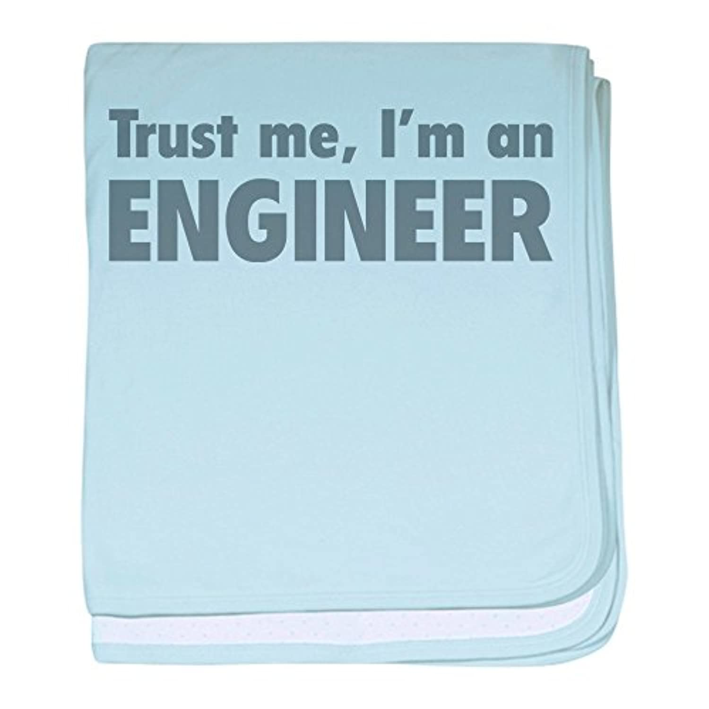 CafePress – Trust Me , I ' m an Engineer – スーパーソフトベビー毛布、新生児おくるみ ブルー 067070338625CD2