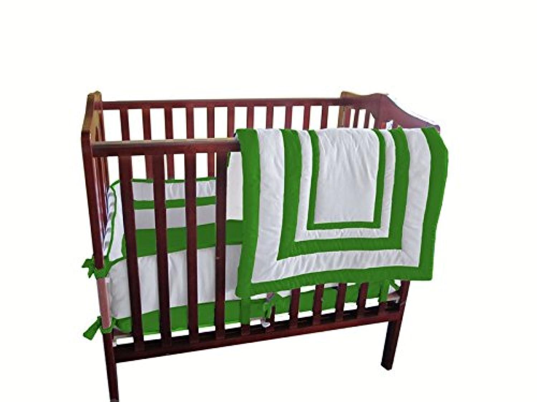 Baby Doll Bedding Modern Hotel Style Mini Crib/ Port-a-Crib Bedding Set, Green Apple by BabyDoll Bedding