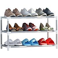 HWH プラスチック製の靴棚、寮のベッド下部の居間多層靴のラック防水区画の靴のラック 靴箱 (サイズ さいず : 59 * 28 * 34CM)