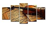 油絵、壁画、版画、家庭服5件、バイオリン、楽譜、絵、骨董品、客間油絵 ズック画