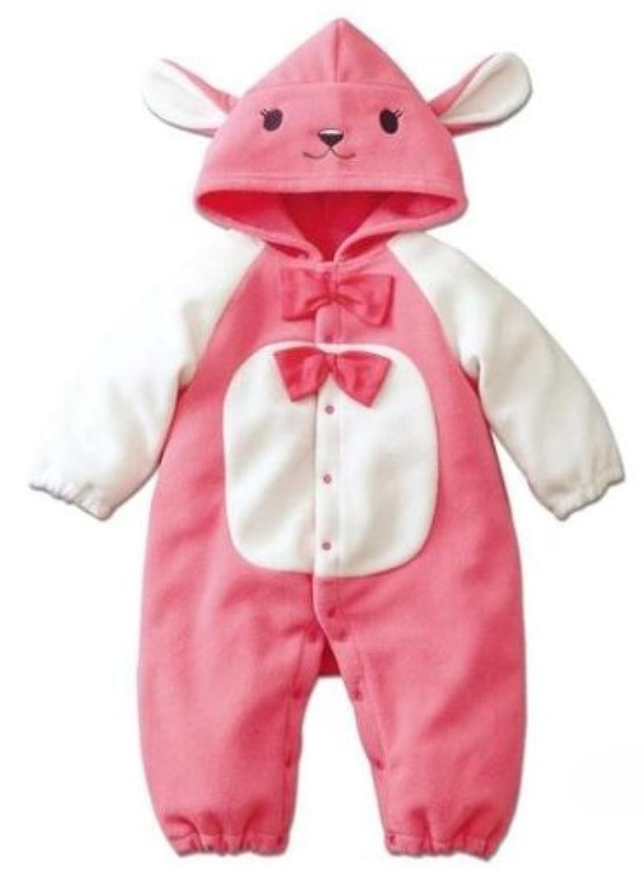 (アニヴェール) Anniverl 子供用 着ぐるみパジャマ ウサギ 80cm 柔らかフリース素材使用 【Anniverlオリジナルセット】 AX-BK001-RA-80
