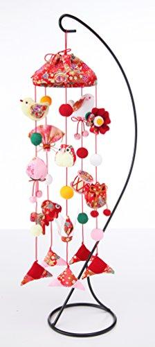 【京ちりめんつるし飾りキット】 傘宝つるし飾り 赤 LH-130