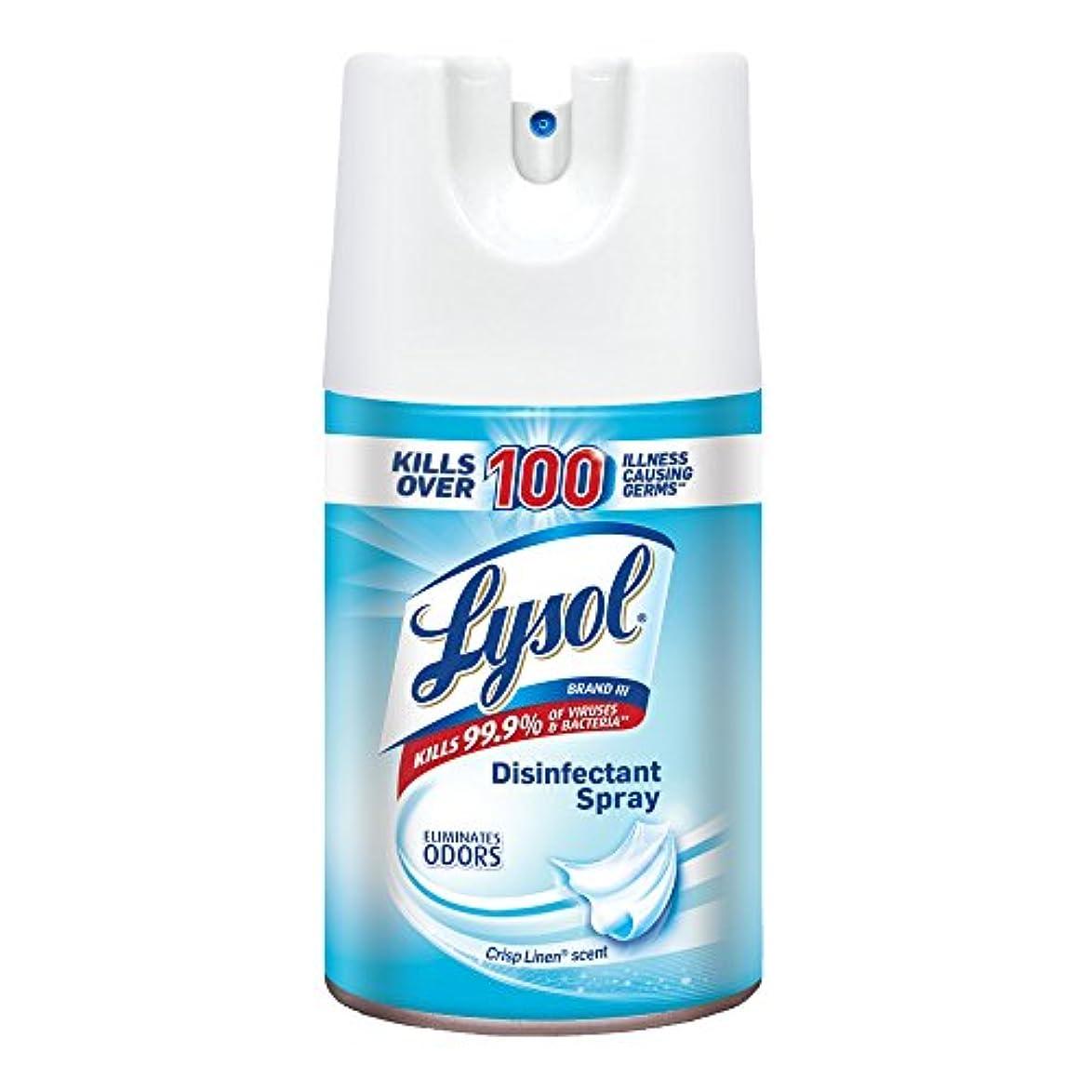 モールス信号粘着性記念Lysol Spray Lysol消毒スプレー、クリスプリネン、84Oz(12X7Oz)