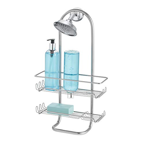 InterDesign シャワーラック 風呂 バスルーム 2段 ジャンボサイズ Classico シルバー
