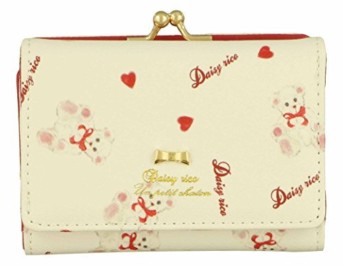 [アルディ] Daisy Rico DR6 ホワイトベアシリーズ 口金ミニ財布 DR6-2  DR6-2 White ホワイト