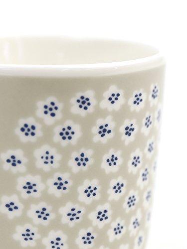 (マリメッコ) marimekko日本限定プケッティ柄ラテマグコーヒーカップセット2個セットPUKETTIC.CUP2PW/OH52179467286・006 F(フリー) 82(グレー×WHT×ブルー)
