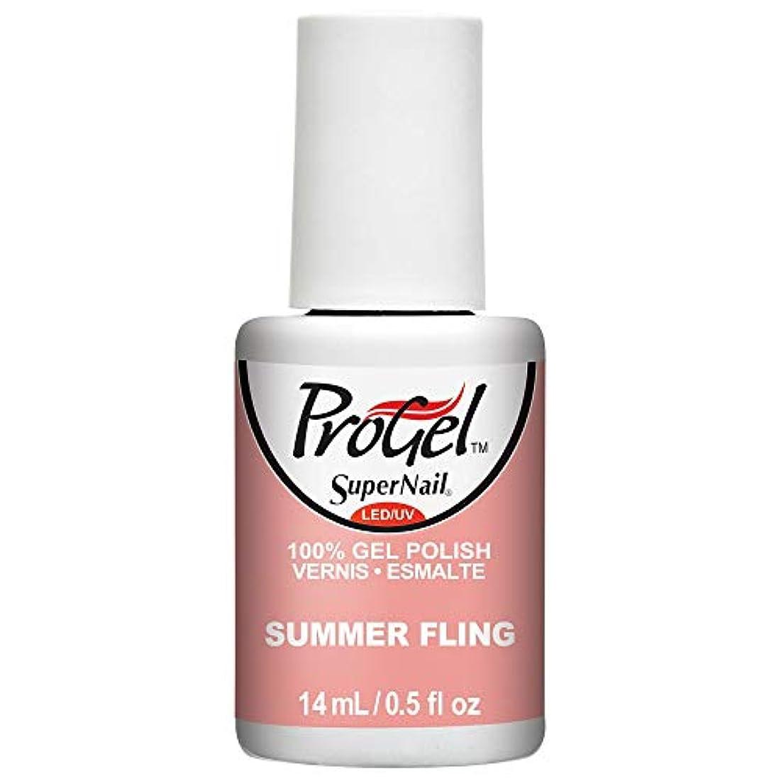 遺産よく話されるフェミニンSuperNail ProGel Gel Polish - Summer Fling - 0.5oz / 14ml
