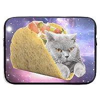 Taco Cat 13-15インチラップトップスリーブバッグ-タブレットクラッチキャリングケース、耐水性、Black-15Inch