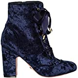 Review Women's Luxe Velvet Boot Navy