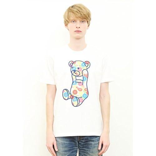 (グラニフ)graniph ベーシック Tシャツ / ジャパニーズフラワーコントロールベア ( ホワイト ) M
