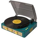 Gadhouse Brad ヴィンテージレコードプレーヤー Bluetooth5.0での3倍速ターンテーブル、ステレオスピーカー、ヘッドフォンジャック、スマートフォン用のAUXインプット、RCAラインアウトジャック, Pitch Control(Re