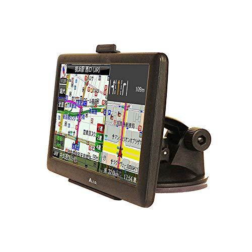 2019年 最新地図 対応 3年間更新無料 ワンセグ搭載 7インチ カーナビ スタンド付き / 高性能GPSアンテナ バッテリー 内蔵 12V24V電源 3電源 取り付け簡単 オービス警告