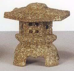 古信楽焼き陶製 六角雪見灯籠SV55-8