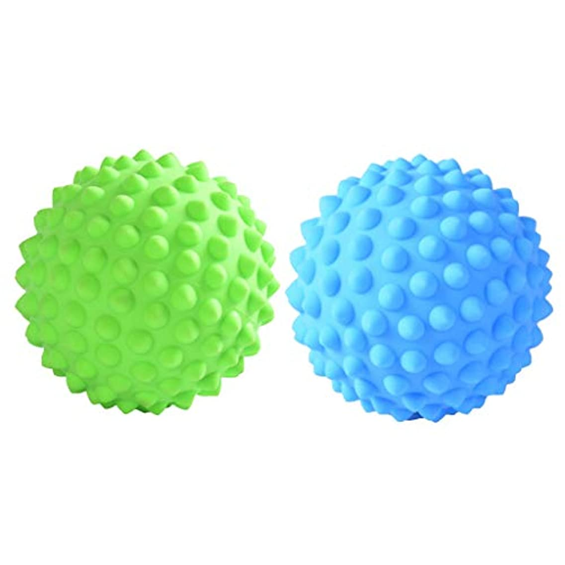 職業ブラウズ加入マッサージローラーボール 指圧ボール トリガーポイント疲れ解消ボール ヨガ疲労軽減 筋膜リリース2個