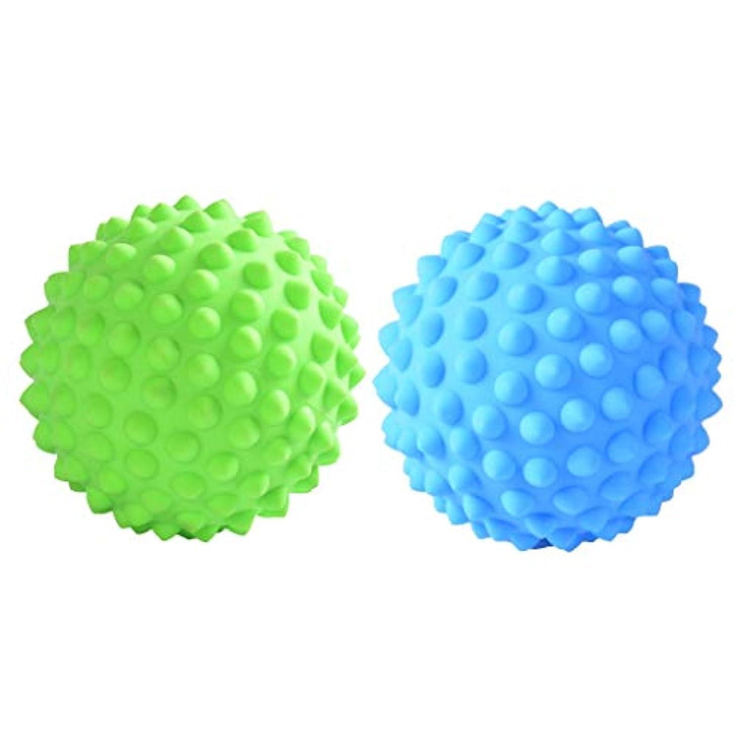 chiwanji マッサージローラーボール 指圧ボール トリガーポイント 疲れ解消ボール ヨガ 疲労軽減 2個入