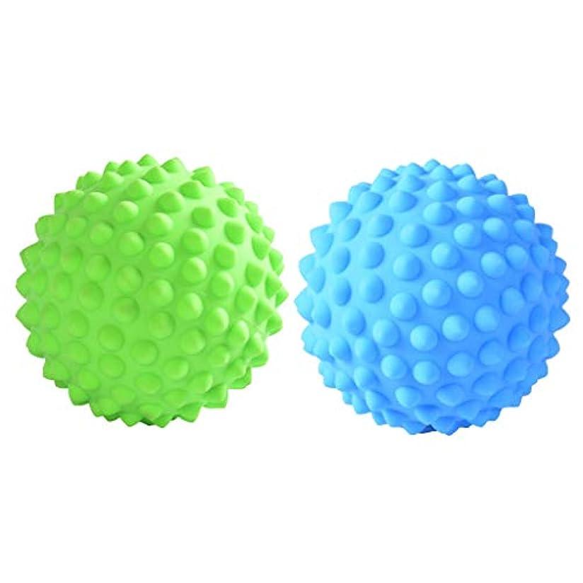 牽引変位電子CUTICATE マッサージローラーボール 指圧ボール PVC トリガーポイント 筋膜 疲労軽減 健康的 2個入
