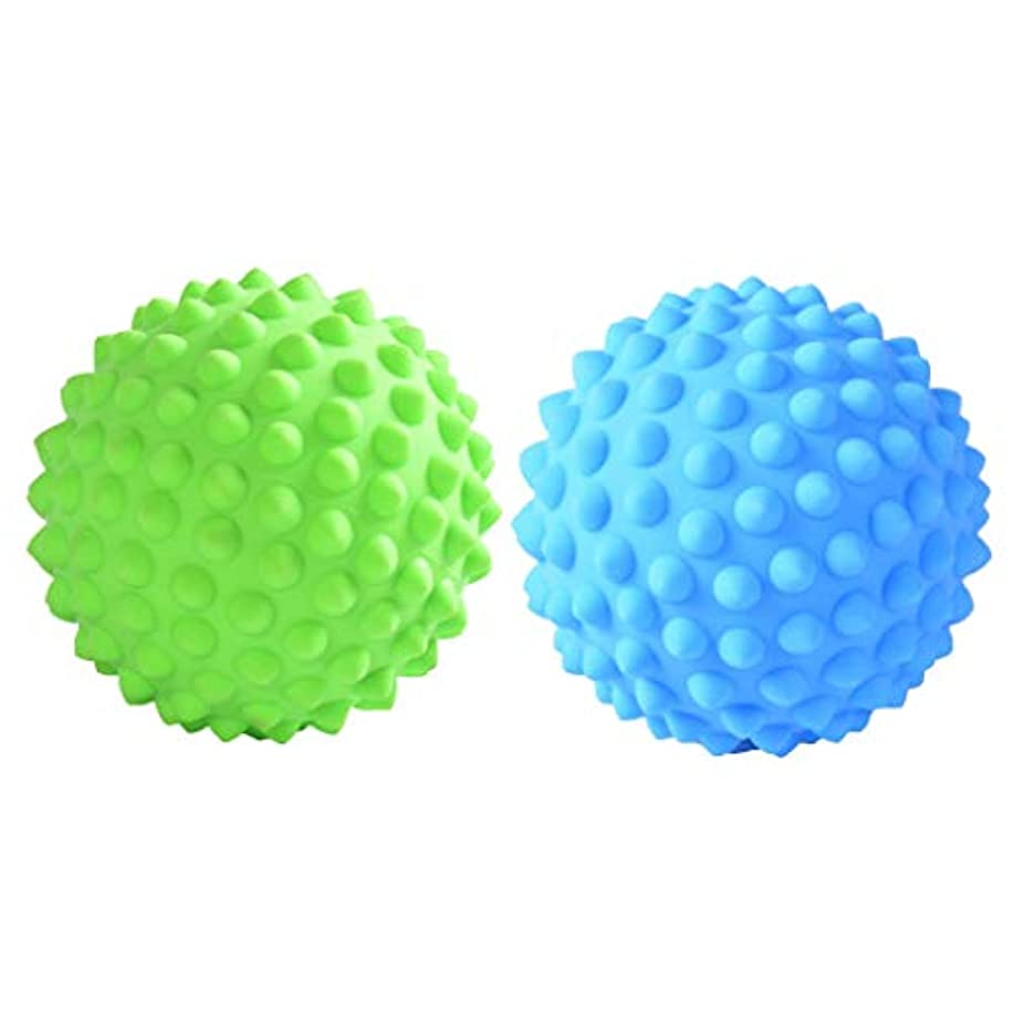 パーティー拍車楕円形CUTICATE マッサージローラーボール 指圧ボール PVC トリガーポイント 筋膜 疲労軽減 健康的 2個入