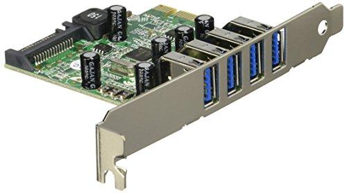 StarTech.com USB 3.0 4ポート増設PCIeカード 4x USB 3.0 拡張用PCIe x1 接続ボード SATA(15ピン)電源端子付き PEXUSB3S4V