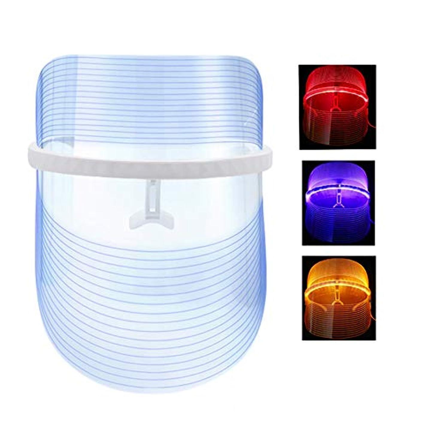 時計回り驚いた膨張する光療法フォトンマスクにきび治療フェイススキンケアの無制限セッション-個別に赤/青/オレンジのライト