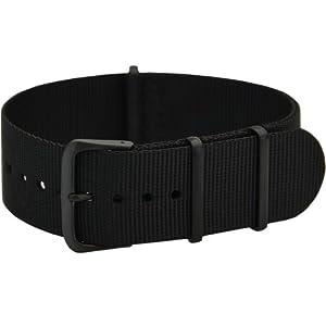 [カシス]CASSIS NATO TYPE BLACK ナトータイプ時計ベルト 18mm ブラック ブラック尾錠 ナイロン素材 #141.601B 019 018